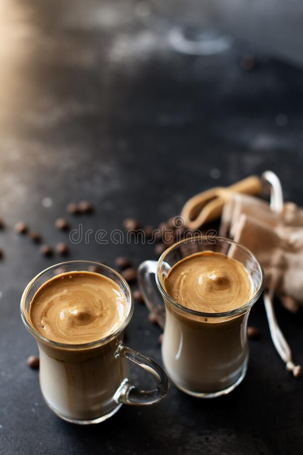 Dalgona Coffee. Iced Fluffy Creamy Whipped Trend Drink ...