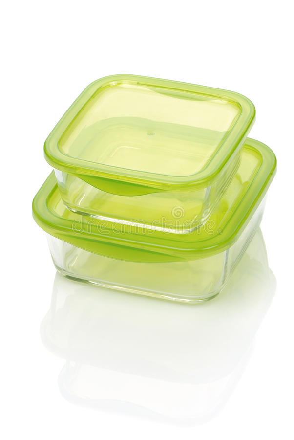 Two glass food container royalty free stock photography