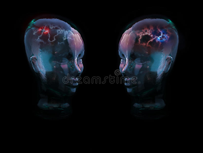 Download Glass Heads Intelligence Concept Stock Photo - Image of neurons, fragile: 30870872
