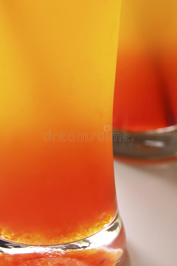 Two Glass of orange juice royalty free stock image