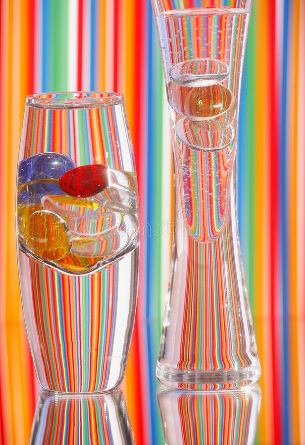 Download Two Glass Vases & Bright Color Stock Photo - Image: 4860212