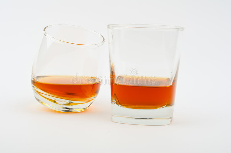 Two glass of whisky royalty free stock photos