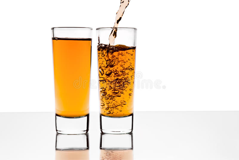 Download Two glasses with alcohol stock photo. Image of brown - 16993564