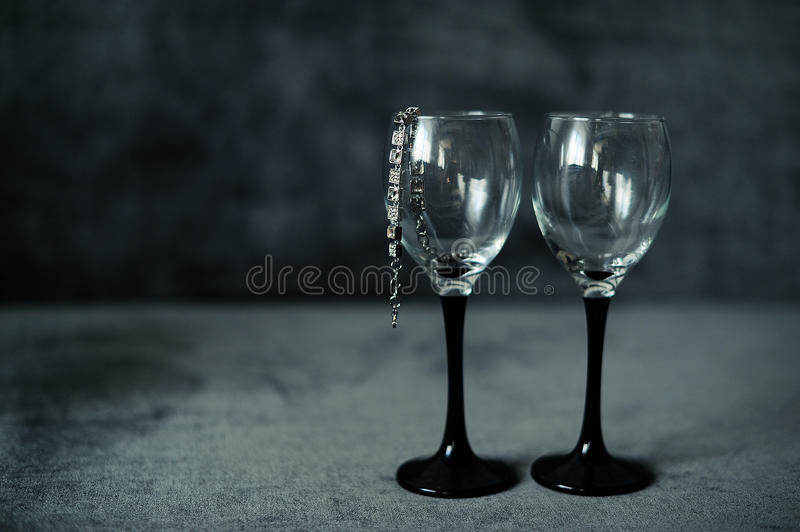 Download Two Glasses With A Bracelet Stock Image - Image of glass, food: 39512555