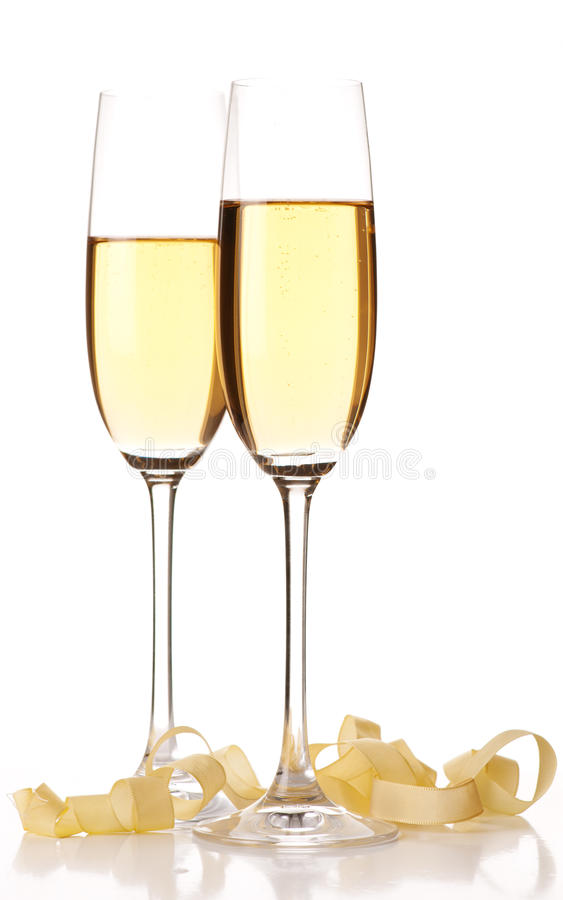 Download Two glasses of champagne. stock photo. Image of glass - 26354442
