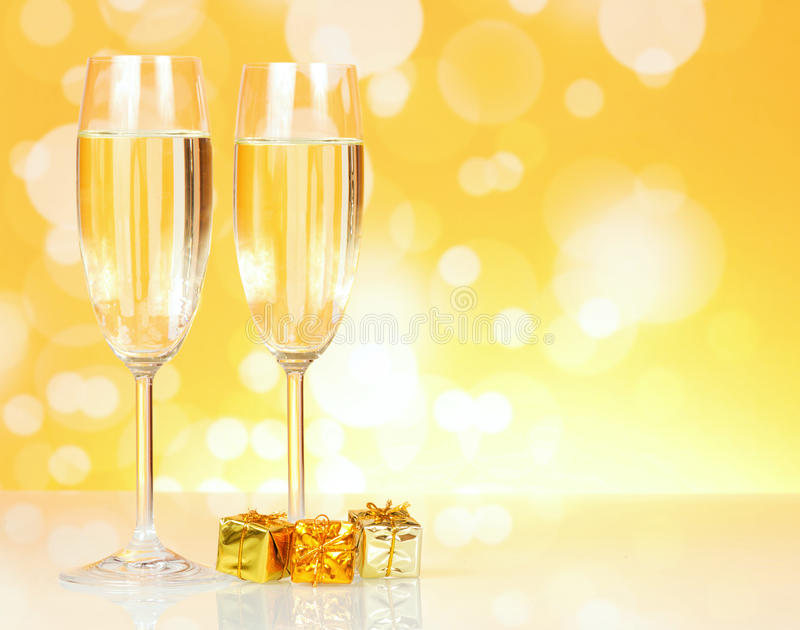 Download Two glasses of champagne stock image. Image of bubble - 35834277