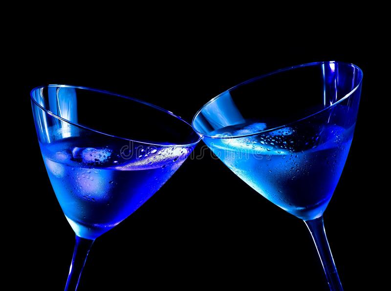 Download Two Glasses Of  Fresh Cocktail With Ice Make Cheers Stock Photo - Image: 35459050