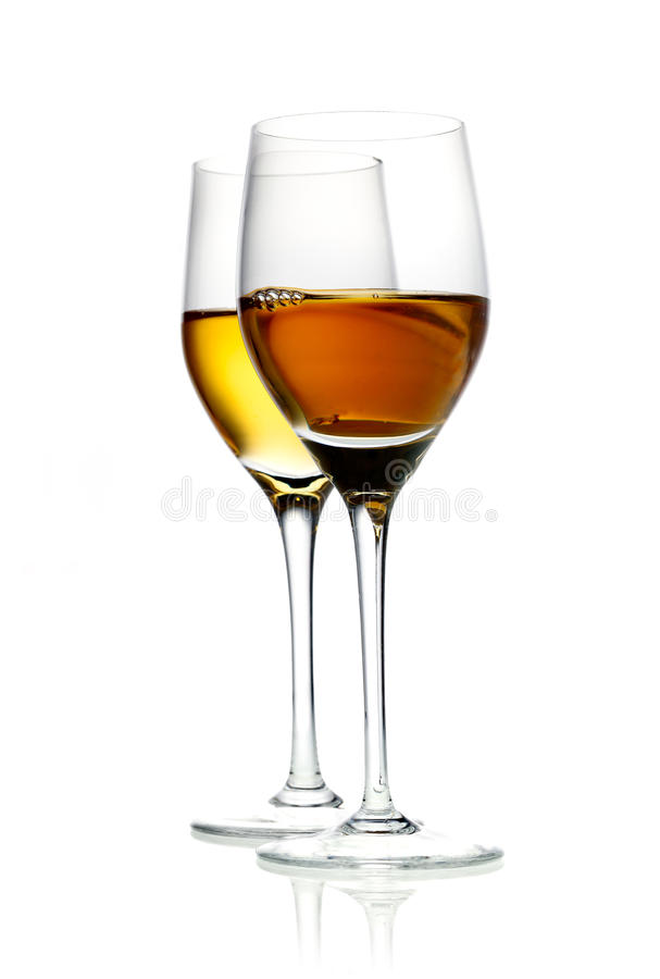 Download Two Glasses Of Hard Liquor Aperitif Stock Photo - Image: 26656880
