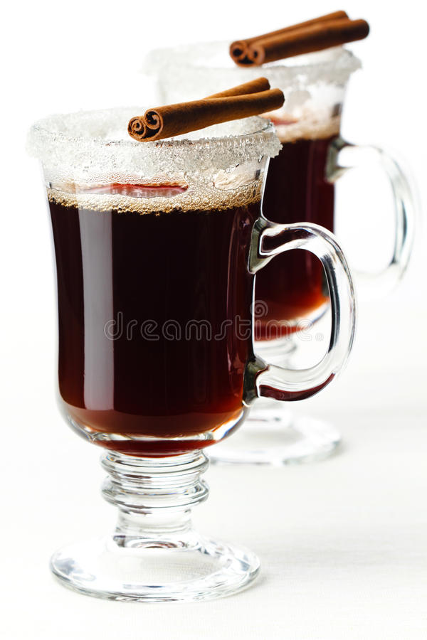 Download Two glasses of mulled wine stock image. Image of mulled - 26543979