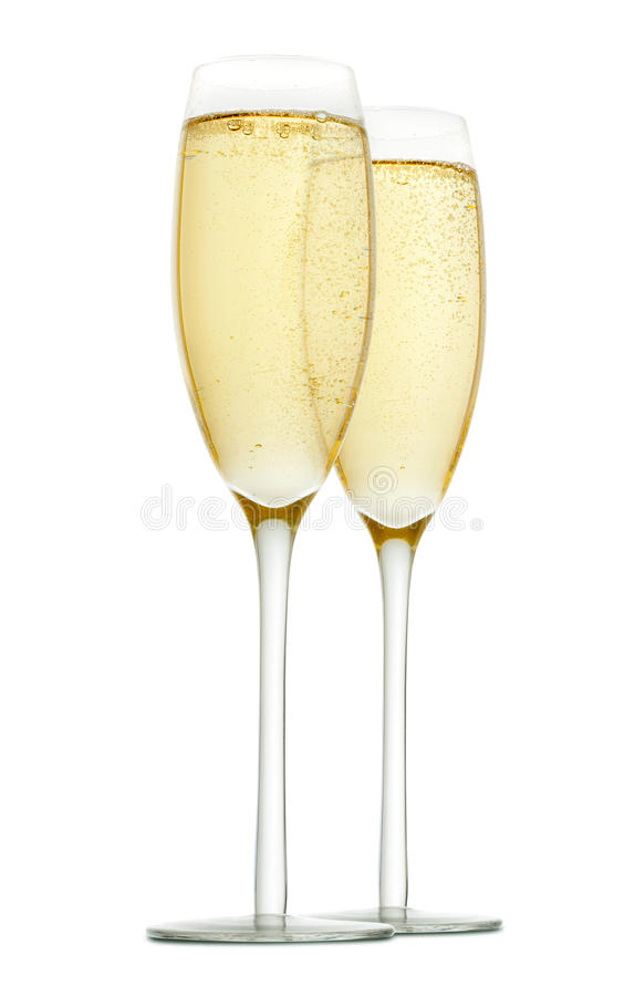 Free Two Glasses Of Champagne Royalty Free Stock Image - 17035086