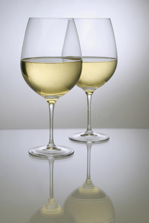 Free Two Glasses Of White Wine Royalty Free Stock Image - 11377136