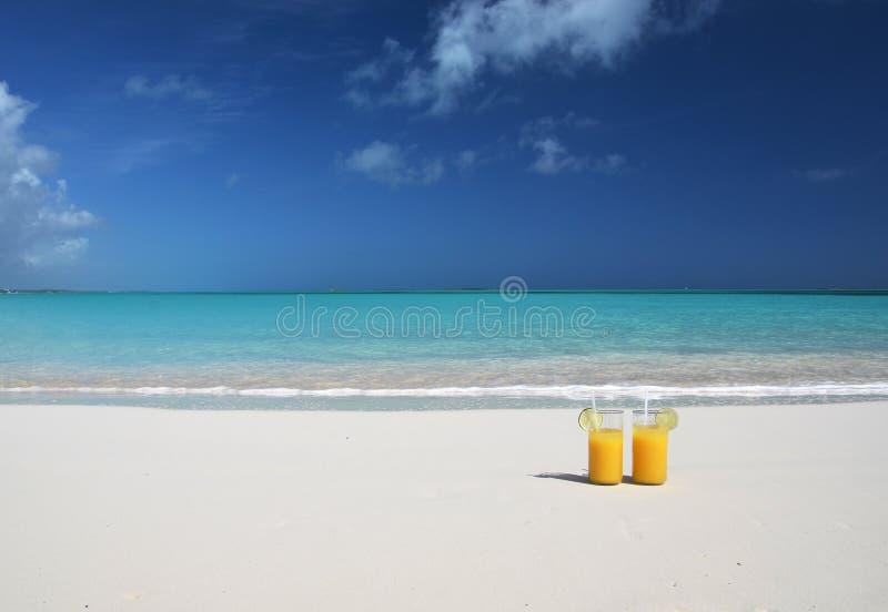 Two glasses of orange juice royalty free stock photos