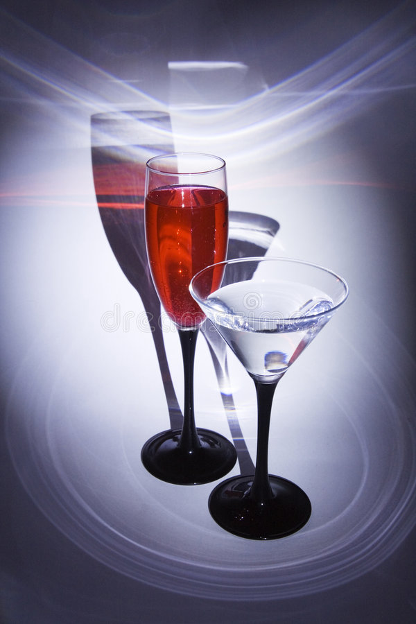 Two glasses with patches royalty free stock photo
