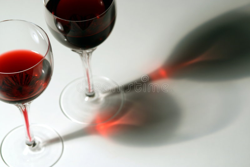 Two Glasses of Red Wein royalty free stock image