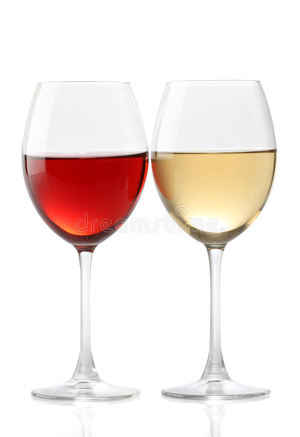 Two glasses of wine stock photos
