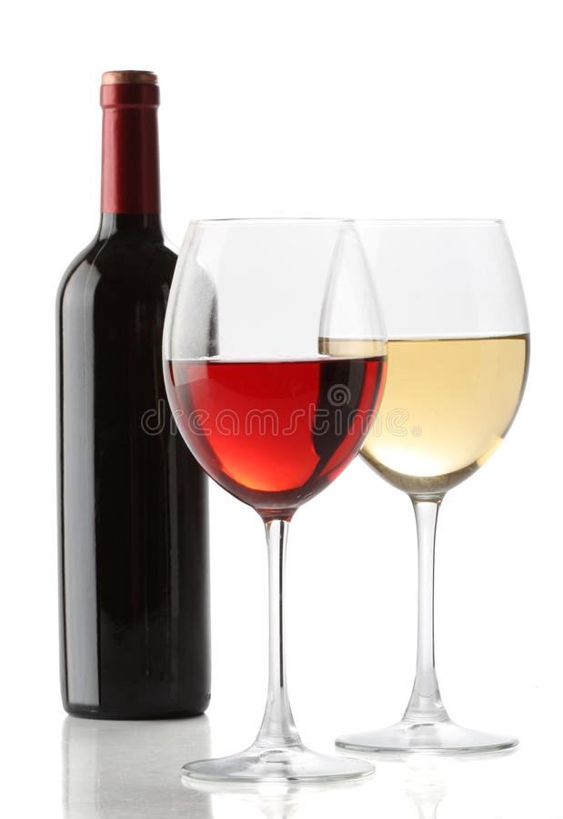 Two glasses of wine stock images