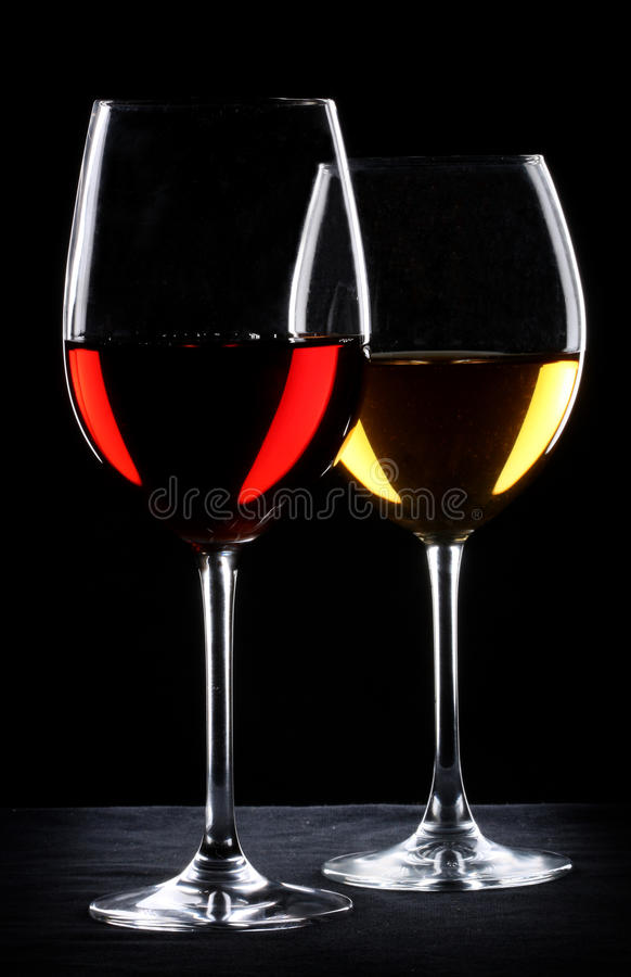 Download Two Glasses Of Wine Royalty Free Stock Images - Image: 17021569