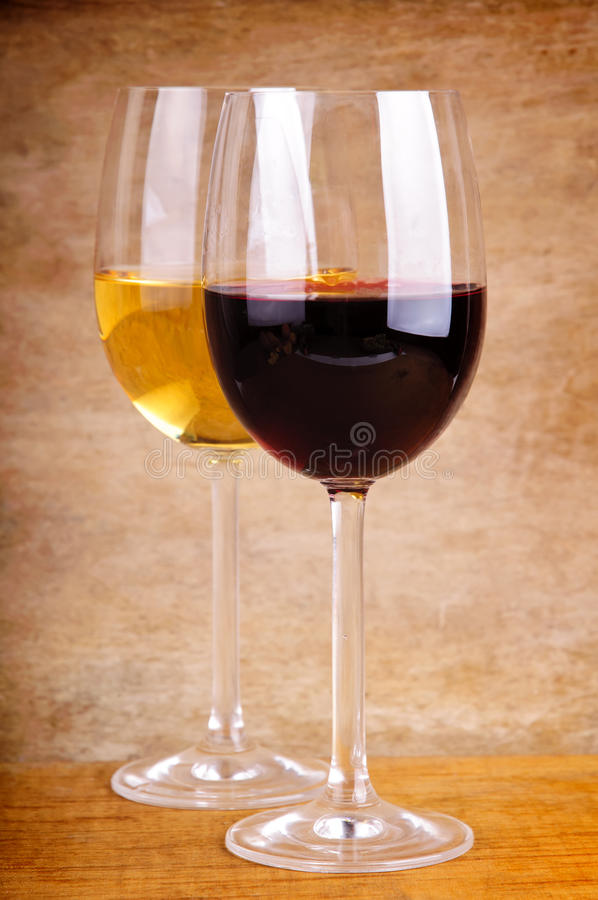 Download Two glasses of wine stock image. Image of beverage, background - 17759923