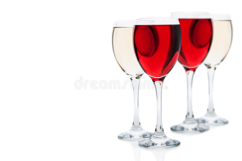 Two glasses of wine royalty free stock images