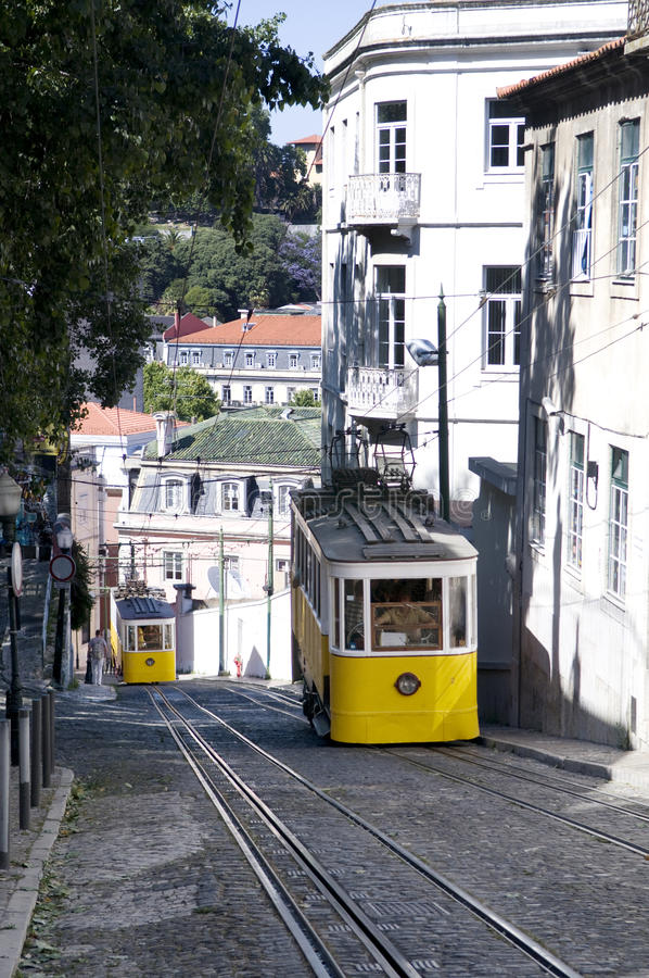 Download Gloria Trams - Lisbon Public Transportation Royalty Free Stock Photos - Image: 25355048