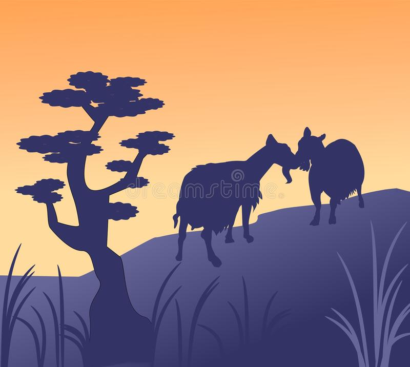 Download Two Goats stock illustration. Illustration of domestic - 20081597