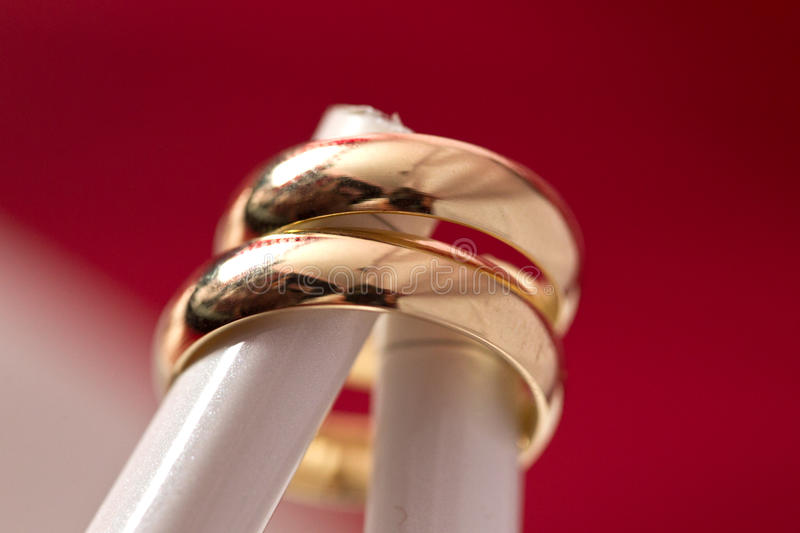 Download Two gold rings stock image. Image of marry, couple, connection - 22471187