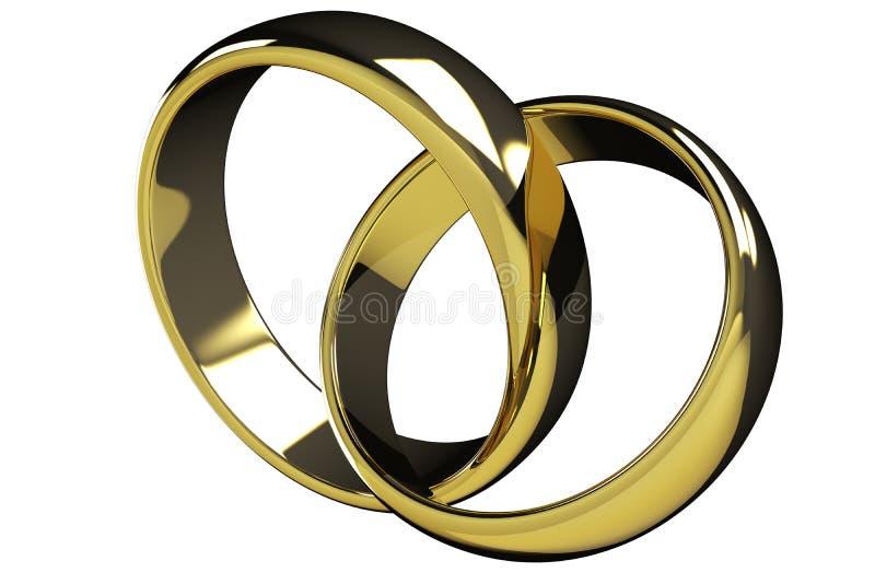 Download Two gold rings stock illustration. Illustration of honeymoon - 23876501