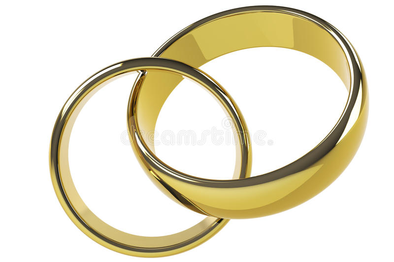 Download Two gold rings stock illustration. Illustration of love - 23876527