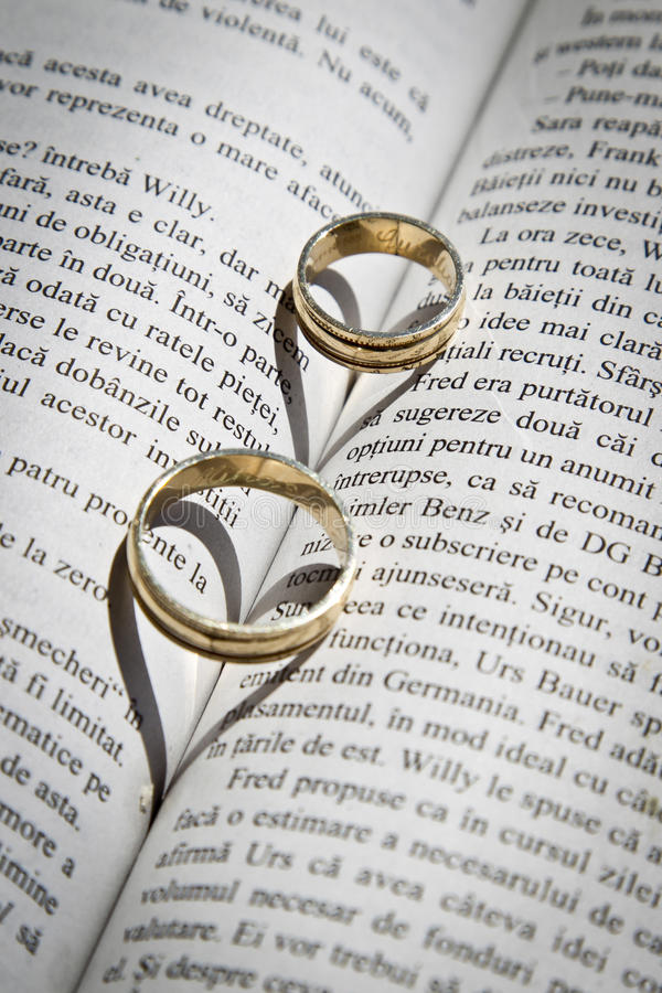Two Gold Rings Stock Image