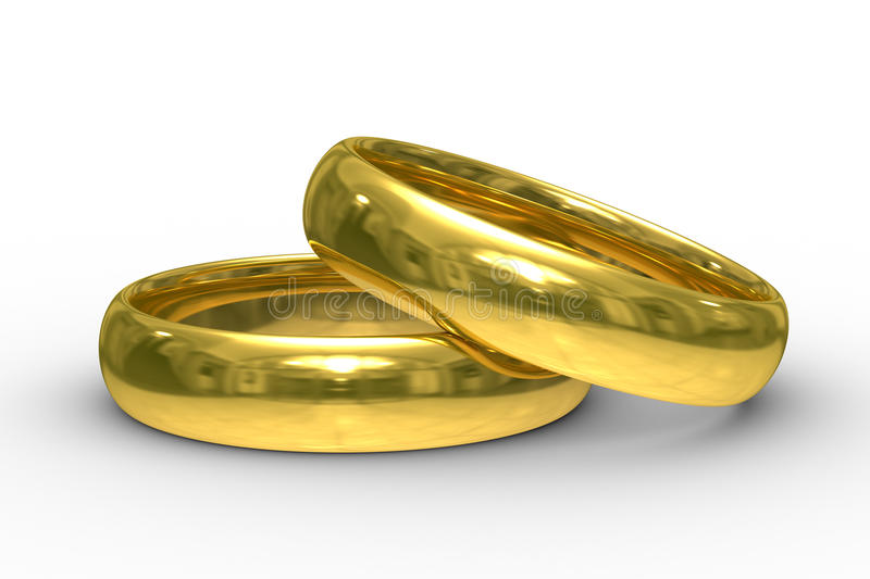 Download Two Gold Wedding Rings Stock Photos - Image: 11131133