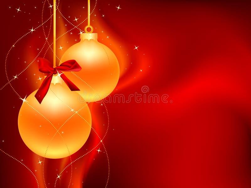 Two_golden_christmas_ball απεικόνιση αποθεμάτων