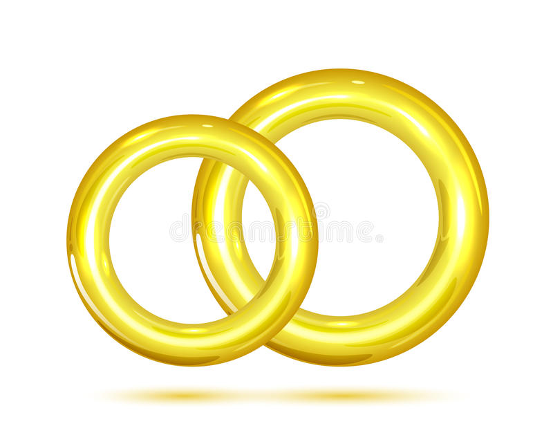 Download Two golden rings stock illustration. Illustration of male - 40382027