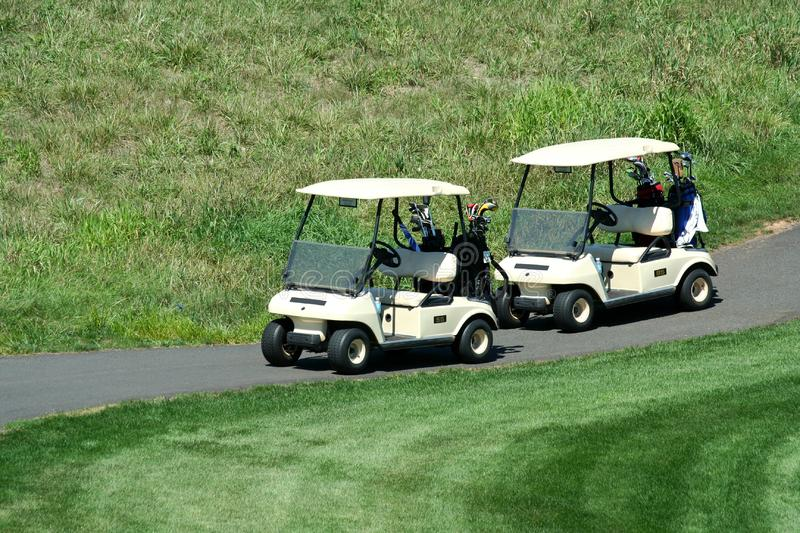 Download Two golf carts stock photo. Image of tires, game, course - 6257226