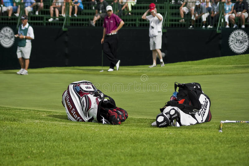 Download Two Golfers Club Bags editorial stock image. Image of club - 17715504