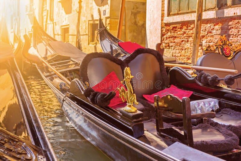 Two gondolas under sunlight royalty free stock photography