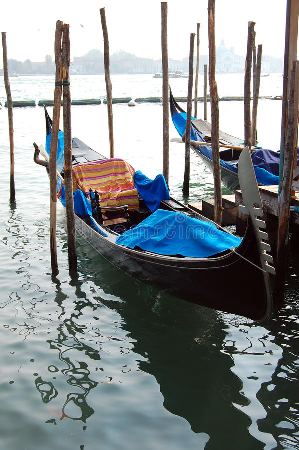 Two gondolas in Venice royalty free stock photos