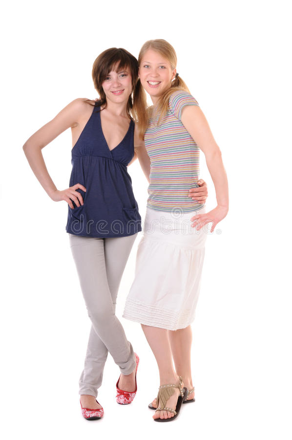 Two good friends stock image