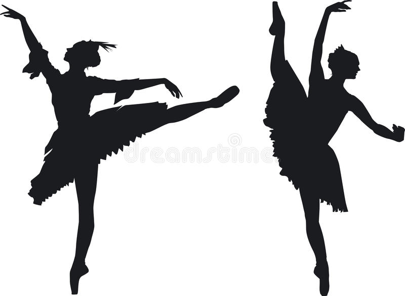 Two graceful ballet dancers royalty free stock photos