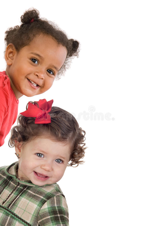 Download Two gracious baby girls stock photo. Image of green, friend - 12604532