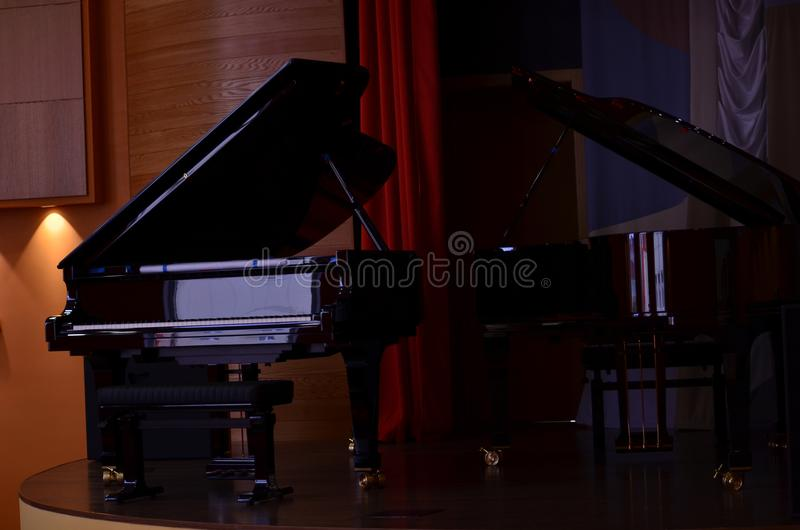 Two pianos royalty free stock image