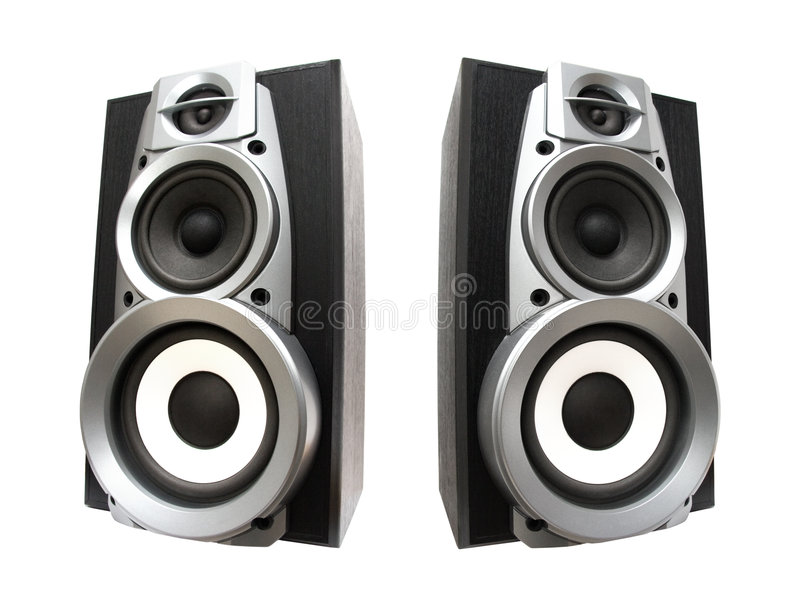 Two Great Loud Speakers Royalty Free Stock Photography