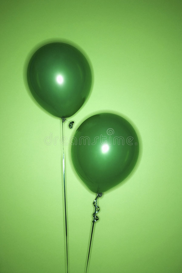 Download Two green balloons. stock photo. Image of studio, photograph - 2037142