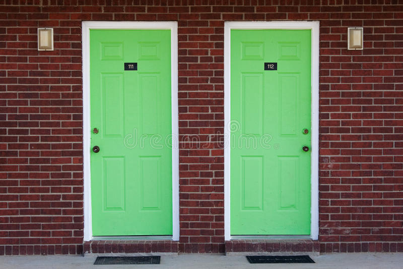 Download Two green doors stock image. Image of vivid strange - 13429009 & Two green doors stock image. Image of vivid strange - 13429009