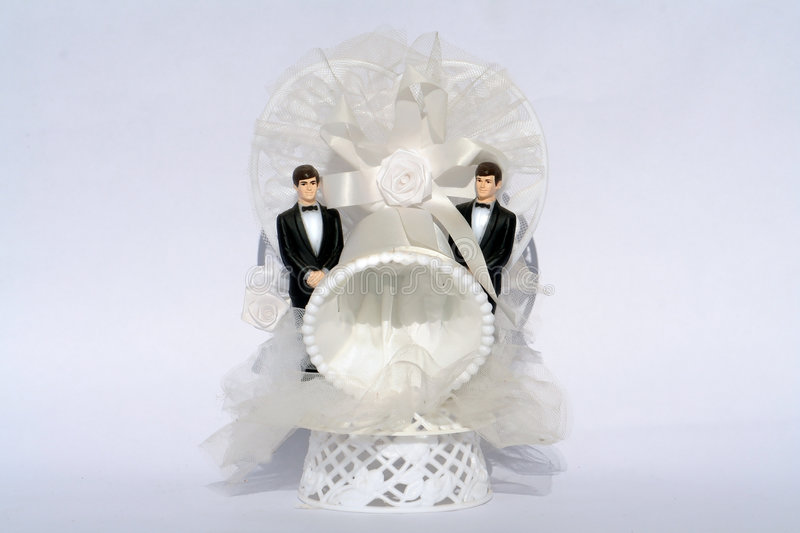 Two grooms Gay Wedding. The gay wedding in Europe royalty free stock photography