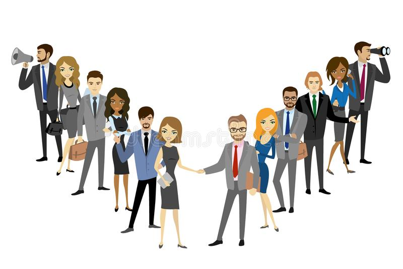Two group of a professional business team royalty free illustration