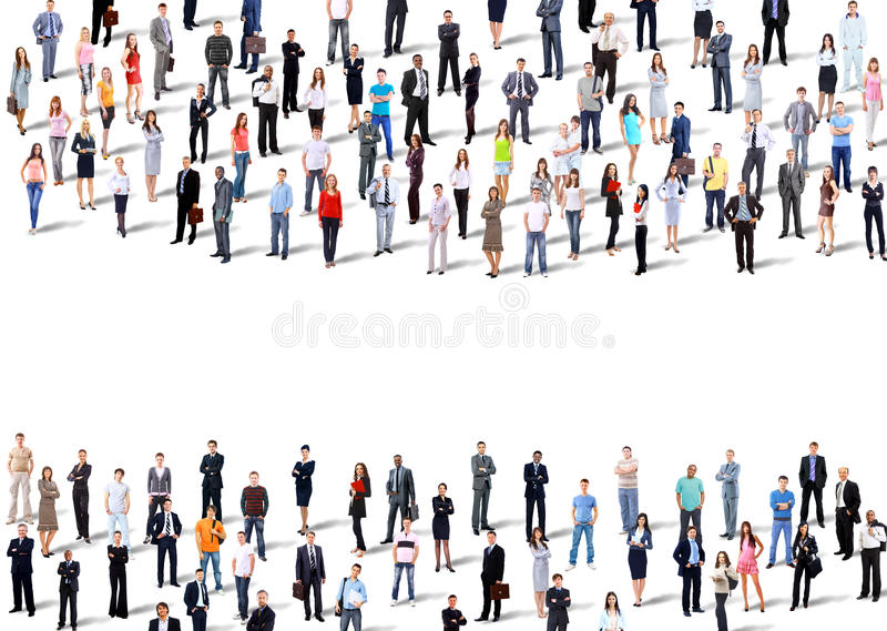 Two groups of business people stock photography