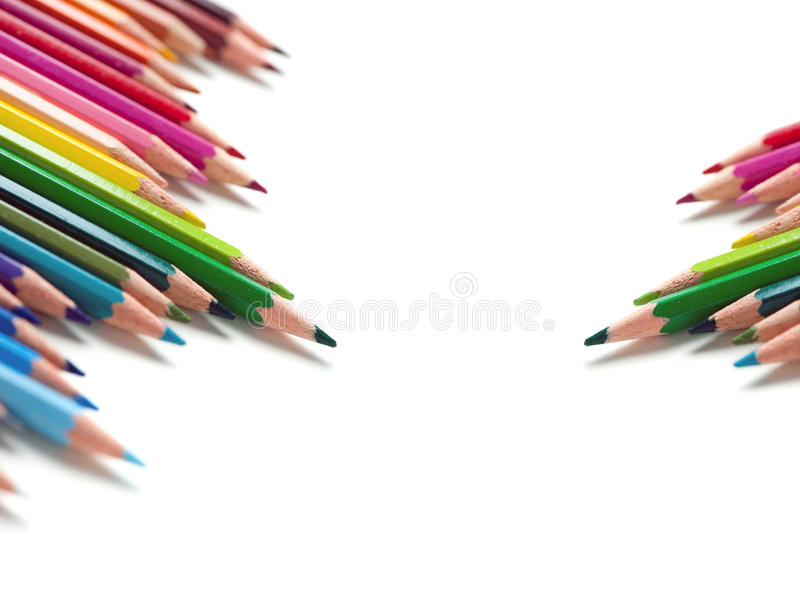 Download Two Groups Of Color Pencils Stock Photography - Image: 23029742