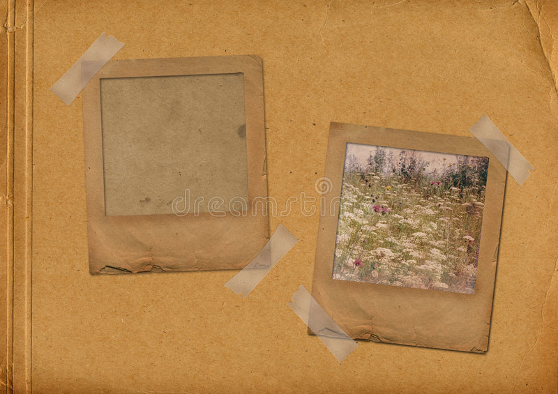 Download Two Grunge Slides In The Old Photoalbum Stock Illustration - Image: 7862915