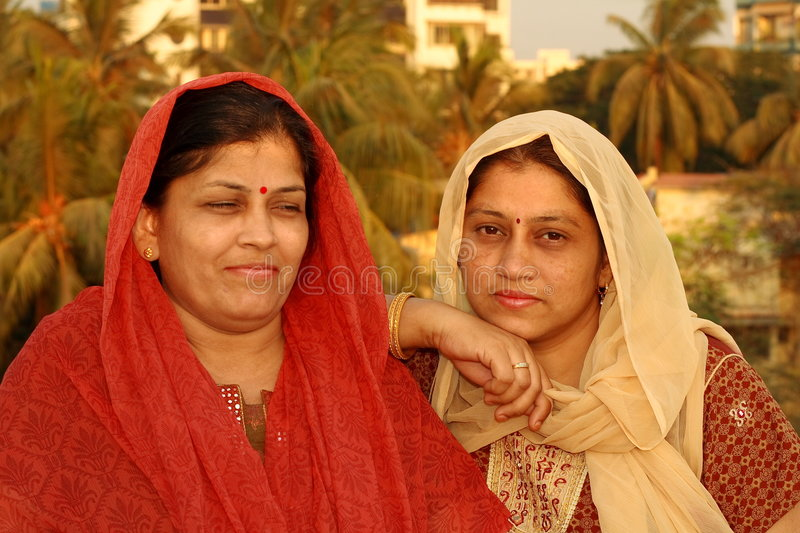 Two Gujarati women stock image