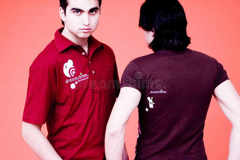Two Guys-Dreamstime Shirts stock photo